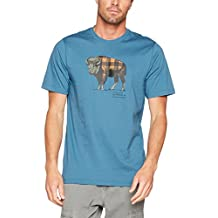 Columbia CSC Check The Buffalo II Short Sleeve Tee Shirt de Manga Corta Para Hombre, Hombre, color Blue Heron, tamaño XL