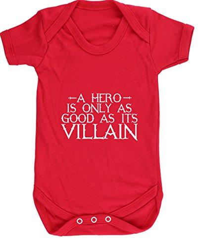 ist nur so gut wie IT 'S Villain Baby Weste Body (kurzärmlig) Jungen Mädchen, Rot, 6007-BV-R-18-24 (Zwangsjacke Asylum)