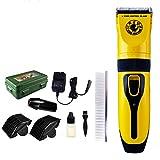 XUHAHADTJ Elektrischer Klipper/Rasierschere/Pet Elektrische Schere/Hund/Katze Schermaschine/Dual-Use/Rasierschere, Gelb