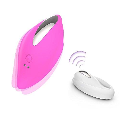 Vibratoren für sie Klitoris und G-punkt mit Fernbedienung, 9 Modi, wasserdicht, USB wiederaufladbar, Iris pink