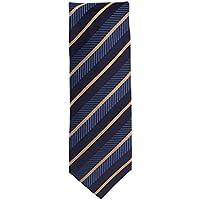 Silk classico cravatta di setta blu oro a strisce 8,5 (Oro A Strisce Cravatta)