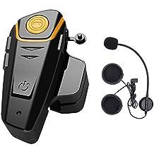 ENCHICAS 1x BT S2 Intercomunicador Casco Moto, 1000m Bluetooth Headset Motorcycle Intercom Manos Libres Moto