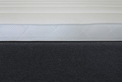 Tesladreams Boxspringbett Ankona 180×200 – Schublade,7 Zonen-Taschenfederkern-Matratzen,H2/H3,Topper Komfortschaum-3D Bezug,Grau