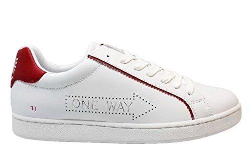 Trussardi Jeans 77A00052 Nero e Bianco Sneakers Uomo Scarpa Sportiva Casual Bianco