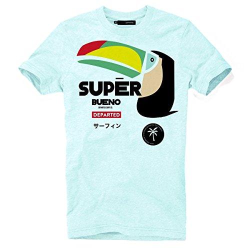 DEPARTED Herren T-Shirt mit Print/Motiv 3953-190 - New fit Größe L, Iced Blue -