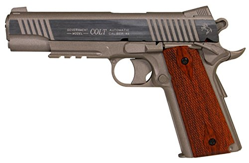Airsoft Pistol-Cybergun 180315-Colt 1911 Schiene Gun Stainless CO2 Nachbildung-festes Joch- Leistung 0,5 Joules -