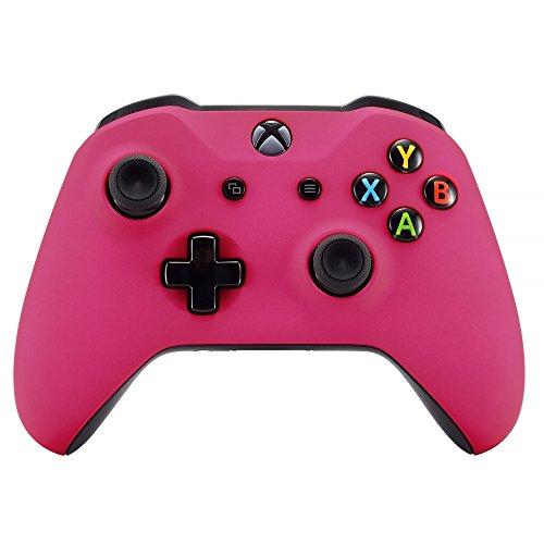 eXtremeRate Case für Xbox One S/X Controller,Vorderseite Hülle Cover Schutzhülle Oberschale Skin Schale Gehäuse Shell Zubehör für Xbox One S/Xbox One X Controller(Rosa)
