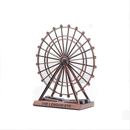 Balaballa Retro Metall The London Eye Riesenrad Ornament England Building Schreibtisch Dekoration Mode Souvenirs Geschenk, Metall, Kupfer