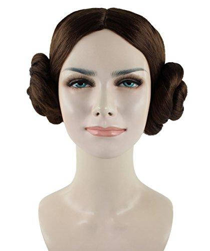 Star War Film Prinzessin Leia braun Cosplay Party Kostüm Perücke (Film Kostüme Einfach Star)