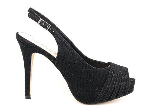 c0ba64cf271 Menbur - Paco Mena Women s Fashion Sandals Black Glitter Nero Black Size   6.5
