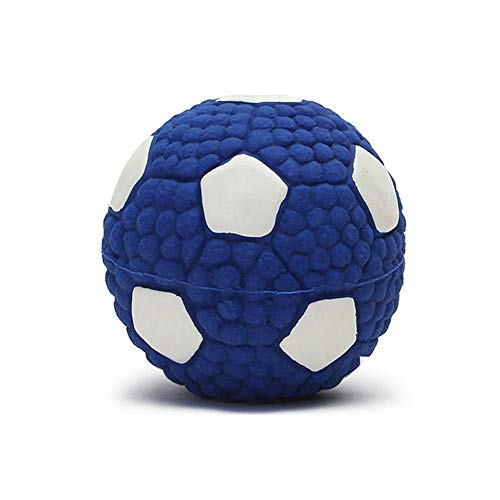 KOBWA Hundespielzeug, Ball, weich, quietschend, groß, Naturkautschuk, interaktives Hundespielzeug, unzerstörbares Kauspielzeug für Zähne, Reinigungsball für Aggressive Kauer