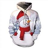 Alwayswin Frauen Größe Kapuzenpullover, Weihnachten Schneemann Print Pullover Long Sleeves Tops Bluse O-Ausschnitt Lässig Sweatshirt Bequem Warme Hoodie Mit Tasche Lange Hülsen Bluse