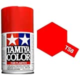Tamiya 85008. Spray TS-8. Pintura esmalte color Rojo Italiano