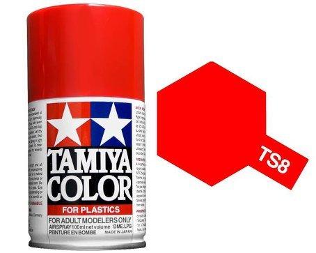 Tamiya 85008. Spray TS-8. Pintura esmalte color Rojo Italiano