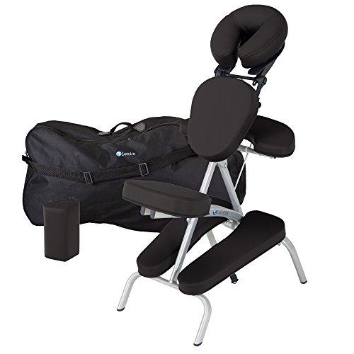 gbarer Massagestuhl - Klappbar, Kompakt, Stabil & Leicht (6,8kg), inkl. Transporttasche & Brustbeinkissen (Earthlite Massage-kopfstütze)