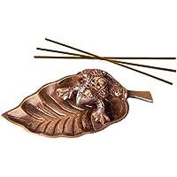 Preisvergleich für Räucherstäbchenhalter Frosch aus Messing, 10 cm, Räuchergefäß Räucherschale zum Räuchern von Räucherstäbchen