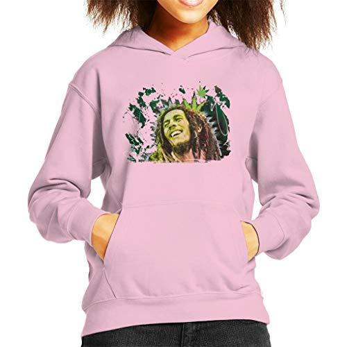 VINTRO Bob Marley Lächeln Kinder Kapuzen-Sweatshirt Original Porträt von Sidney Maurer (Baby Pink,XL) - Bob Marley-baby-kleidung