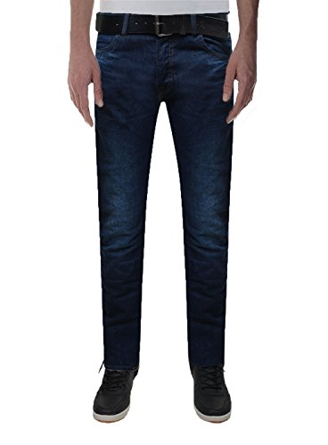 Crosshatch Herren Slim Jeanshose Blau - Dark Wash