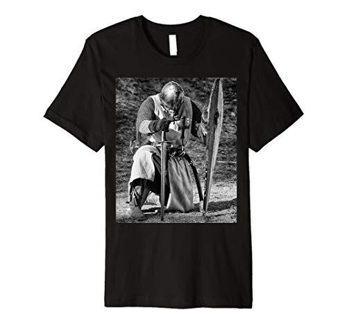Templer Knight T-Shirt Mittelalter Bestellung Schwert & Flagge Emblem