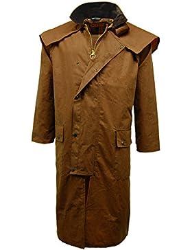 Game - Abrigo largo Stockman de cera para hombre