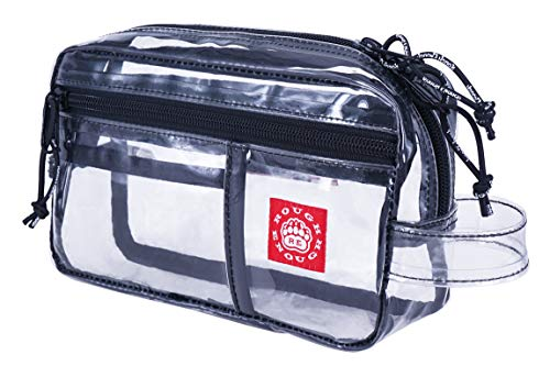 Rough Enough TSA Approve Clear Transparent Travel Toiletry Bag Makeup Organizer Storage Wash Cosmetic Pouch Case Airport Airline Compliant Bag With Zipper Pocket for Office Men Women School Boy Girl -