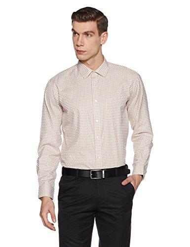 Symbol Amazon Brand Men's Regular Fit Formal Shirt (AW17MFS86_40_Beige)