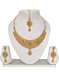 Vipin Store Golden Color Stone And Kundan Gold Plated Jewelery Set - B078XZC2FJ
