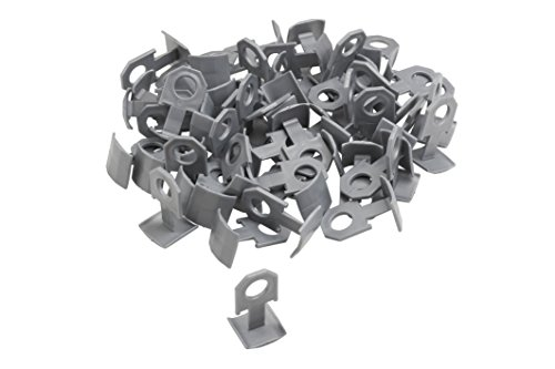 Meister Ersatzclips für Nivelliersystem, 100 Stück ✓ Fliesendicke 7-15 mm | Fliesen-Nivellierhilfe mit Zuglasche | Verlegehilfe mit Keilen | 4423500