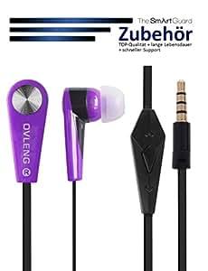 TheSmartGuard originale Samsung Galaxy S6in-ear stereo Cuffie/auricolari in viola–-- Nuovo. Ora con ancora bassi più potenti–--