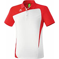 erima Poloshirt Club 1900 - Polo para hombre, color blanco / rojo, talla 3XL