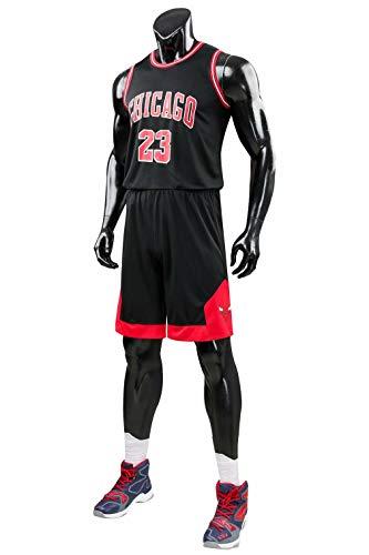 Formesy Herren NBA Michael Jordan # 23 Chicago Bulls Retro Basketball Shorts Sommer Trikots Basketballuniform Top & Shorts Basketball Anzug