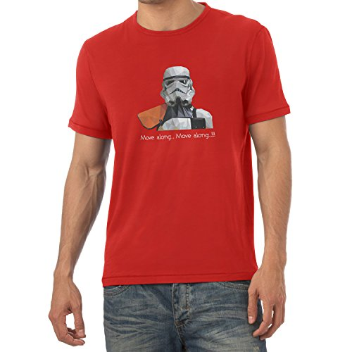 NERDO - Poly Trooper - Herren T-Shirt Rot