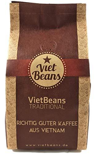 VietBeans Traditional - Hochwertiger vietnamesischer Kaffee - Gemahlener Röstkaffee - Kaffee Vietnam - 250g