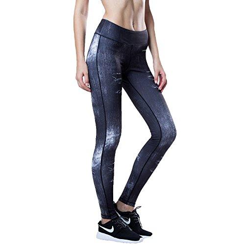 GITVIENA Pantalon de Yoga Elastique Legging de Sport Slim Imprimé Pantalons Femmes pour Jogging / Gym / Yoga / Activités en Plein Air / Exercices et Fitness Multicoloré Multicoloré 2