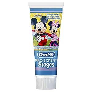 Oral-B Pro-Expert Stages Zahnpasta mit Figuren aus Disneys Mickey Maus, 3er Pack (3 x 75 ml)