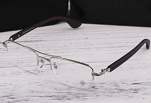 SCJ Stil des Menschen das geschäft halbbild Brille für kurzsichtige holzbeine der große Rahmen beleben die alte zollflut