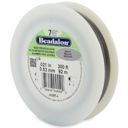 Beadalon Schmuckdraht, 7 Stränge, 0,53 mm, 91,4 m (Beadalon 7 Strang)