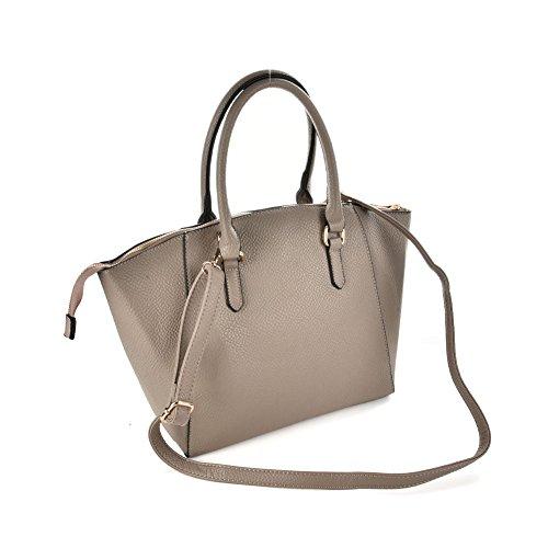 Premium Leather, Borsa a mano donna Large Grey