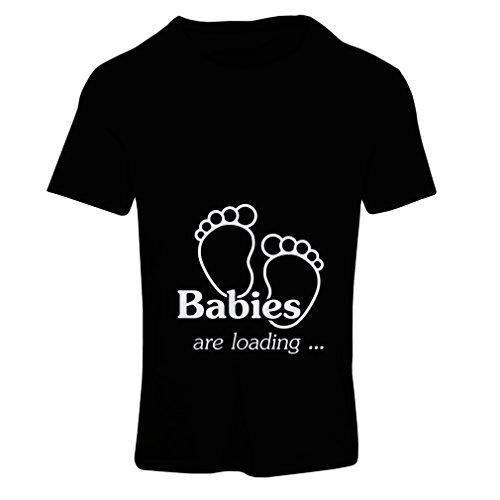 N4232F Frauen T-Shirt Babys werden geladen (X-Large Schwarz Fluorescent)