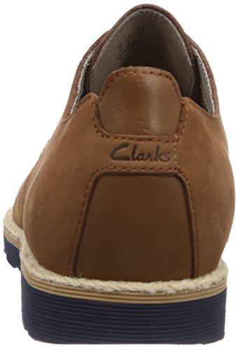 Clarks  Gambeson Walk, Derbies à lacets homme Marron - Braun (Tobacco Nubuck)