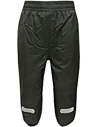 Outburst - Garçons pantalon de pluie pantalon extérieur pantalon de ski doublure polaire imperméable à l'eau, anthracite