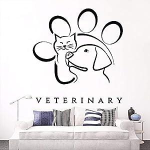 centros veterinarios gatos: Yologg 57X60 Cm Medicina Veterinaria Animal Mascota Tatuajes De Pared De Vinilo ...