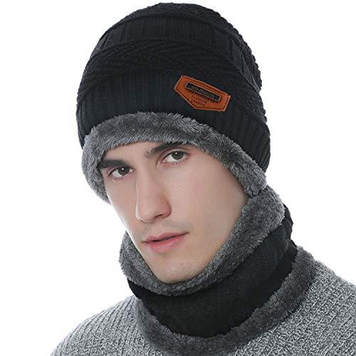 Petrunup Inverno Unisex Cadente per Sciare sulla Neve Beanie Cappello E Collo Caldo Sciarpa Due Pezzi per Donne di Colore