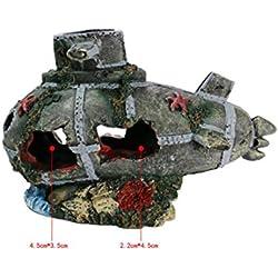 Aquarium-Dekor Aquarium-Wrack-Boots-Wal-Form-Unterwasserverzierungen für Aquarium-Fisch-Versteck-Höhle für Wohnkultur