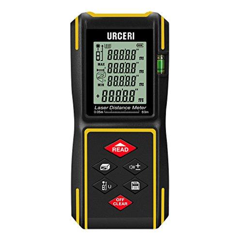URCERI 60m HD Télémètre Laser Numérique IP54 Metre Laser/Calcule Distance Surface...