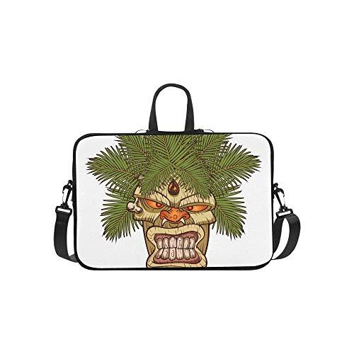 Das Symbol des primitiven Stammes Totem Muster Aktentasche Laptoptasche Messenger Schulter Arbeitstasche Crossbody Handtasche für Geschäftsreisen