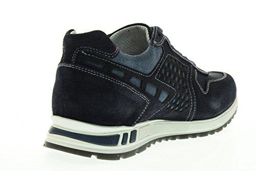 NERO GIARDINI scarpe uomo sneakers basse P704901U/200 Blu