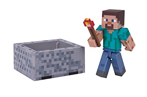 Minecraft Action Figure Steve with Minecart 8 cm Jazwares Figures