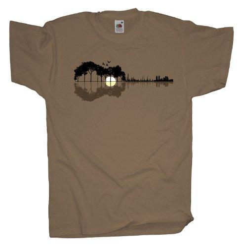 Ma2ca - Sounds from the Woods Herren T-Shirt | Musik Gitarre Band Shirt -khaki-l