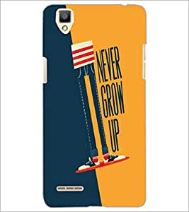 PrintDhaba Quote D-6002 Back Case Cover for OPPO F1 (Multi-Coloured)